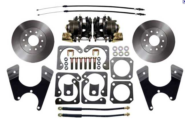 Disc brake kit: 65-70 REAR Full Size B body (OE style)