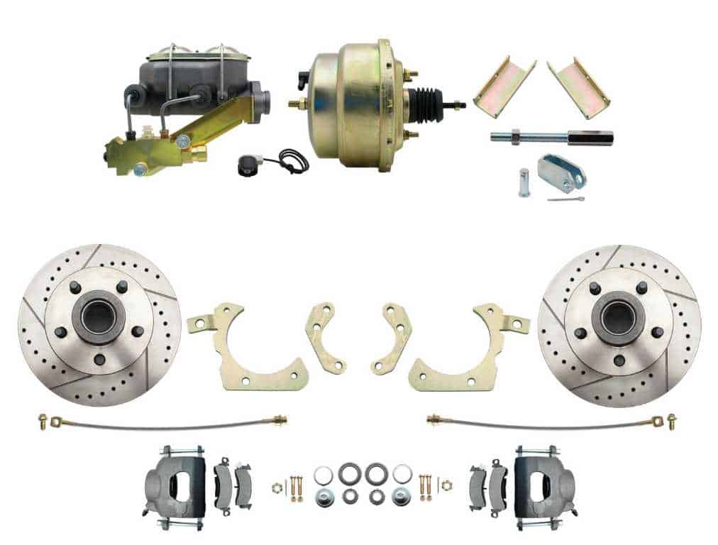 Disc Brake Kit: 55-58 Chevy Full size Slotted