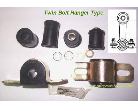 Rear Sway Bar Bushing Kit: 67-81F (Twin side bolt)